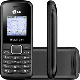 Celular LG B220 Preto Com Dual Chip, Rádio Fm, Display Color