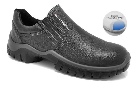 Sapato Ocupacional Couro Curtido Estival Mod Wo1002 1s1