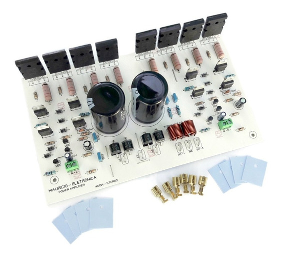 Placa Para Amplificador 400w Rms Estéreo Com Fonte Embutida.