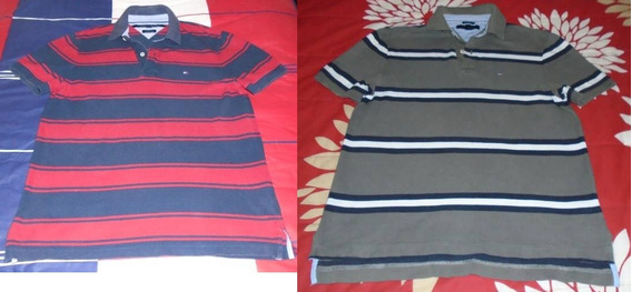 Lote 2 Polo Tommy Hilfiger Small Chica Caballero Rayas