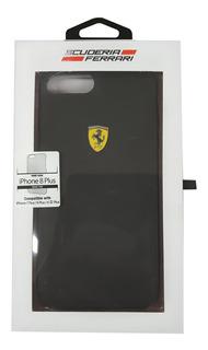 iPhone Plus 8 7 6 Ferrari Rubber Negro 5.5pulg