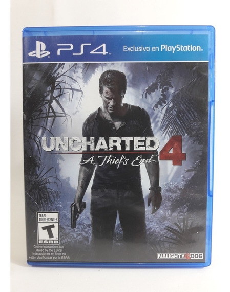 Jogo Uncharted 4 Ps4 Mídia Física Opção De Frete À 12,00