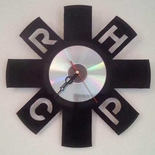 Reloj Pared Disco Vinil Red Hot Chili Peppers Retrovinilvzla
