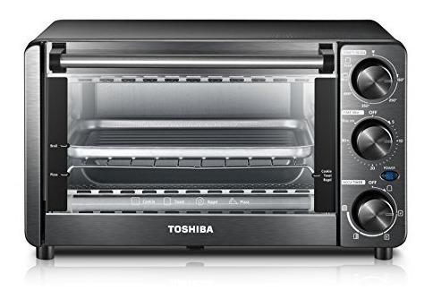 Horno Tostador Toshiba Mg12gqn-bs, Pan De 4 Rebanadas / Pizz