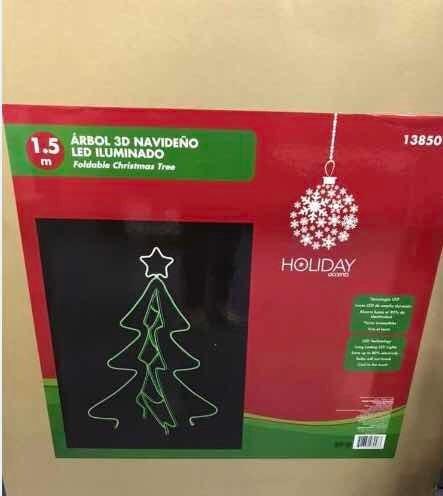 Árbol D Navidad Pinos Iluminado Luz Led 3d. Sin Caja. Oferta