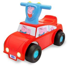 Carro Carrinho Andador Peppa Pig Push `n Scoot Com Som Bebê