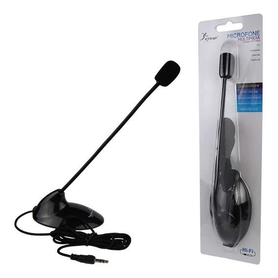 Microfone Pedestal Multimidia Preto Kp-903 Im - Knup