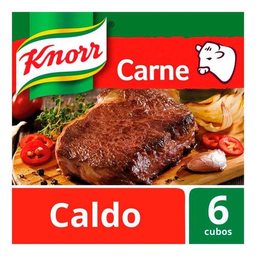 Knorr Caldo Sabor Carne X 6 Unidades