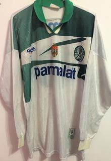Camisa Palmeiras Usada Jogo Brasileiro 1996 Mangas Longas