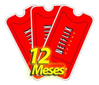 Giftcards Netflx Premium. Cunta X12 - Mes 4 Dispositi.vo.s