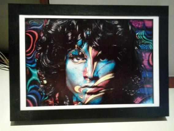 Memorabilia Rock Quadro Jim Morrison The Doors 23x33cm Novo