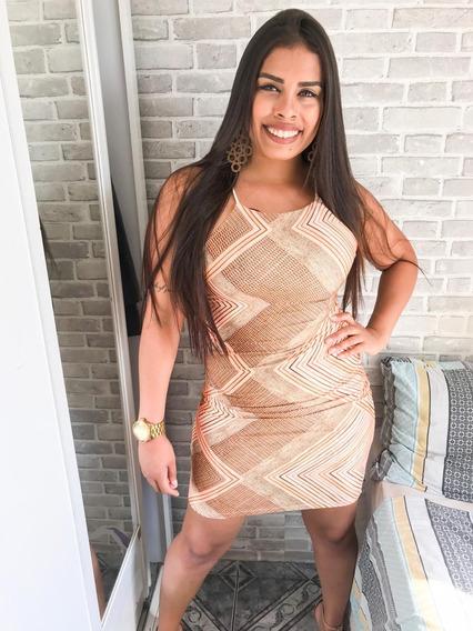 Vestido Estampado Curto Roupas Femininas