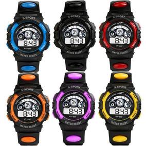 Relógio S Sport Infantil Digital Led Alarme Estilo Militar