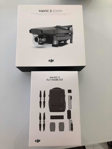 Drone Mavic 2 Zoom + Kit Fly More + Cartao Memoria