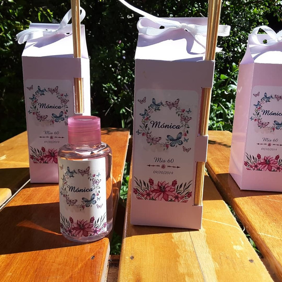 Souvenirs Difusores Aromaticos Personalizados Con Caja X10
