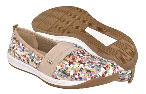 Zapatos Casuales Flexi Para Mujer Textil Confetti 28305