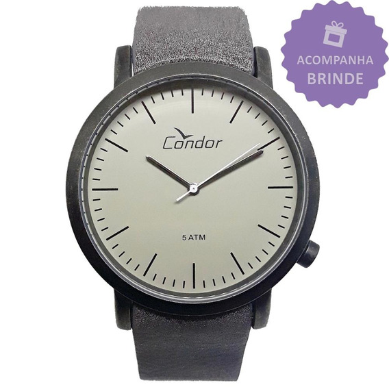 Relógio Condor Masculino Kit Analógico Couro Co2035ktt/k3b