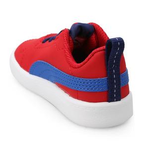 50a6319621 Tênis Puma Courtflex Vermelho Azul Masculino Infantil