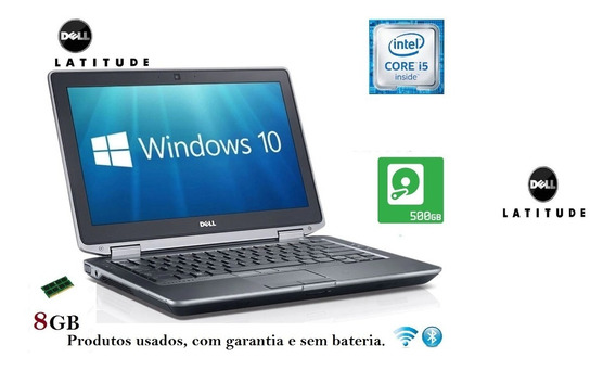 Notebook Dell I5 8gb + Hd + Hdmi/ Bom Estado Sem Bateria