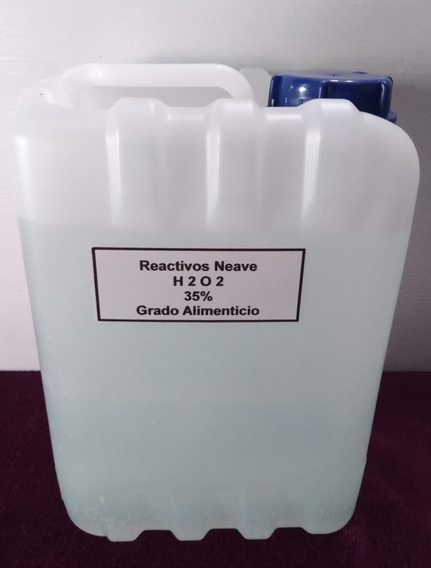 Hidróxido Peroxido 10 Lts 35% G. Alimenticio Envío Gratis