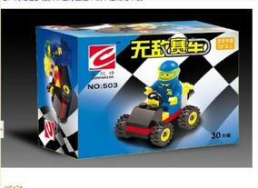 8 Mini Carros Minicarros + Bonecos 247 Pcs Compatível A Lego