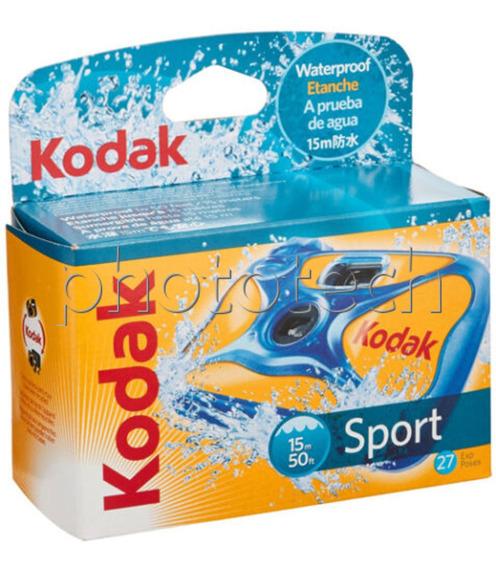 Câmera Kodak Sport Descartável Aprova De Água 27 Poses