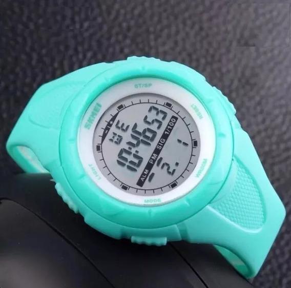 Relógio Feminino Digital Verde Claro - Skmei 1074
