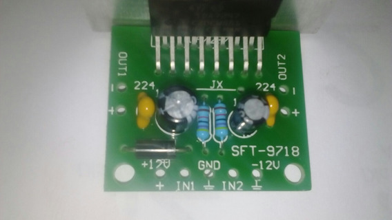 Placa + Fonte Amplificador 12v 30w Rms Tda7297 C/ Dissipador