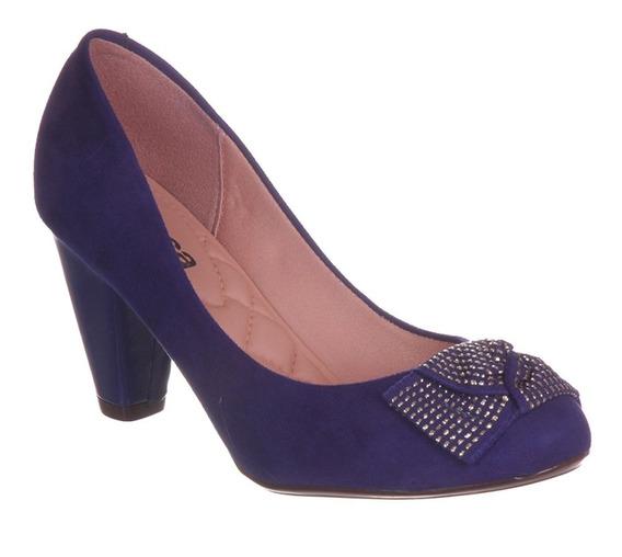 Scarpin Moleca Azul Nº: 35