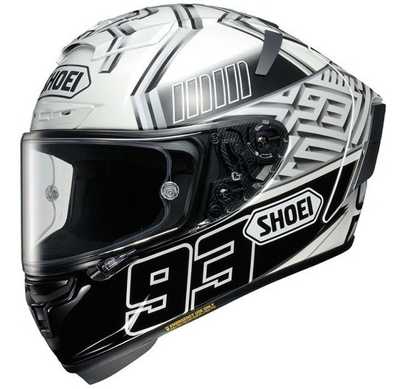Casco Shoei Integral X-spirit 3 Marquez4 Tc-6 Blanco