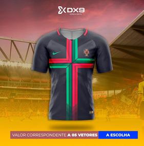 Vetor Camisa De Futebol Coreldraw & Pdf