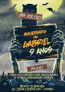 Convite De Aniversario Halloween Dia Das Bruxas