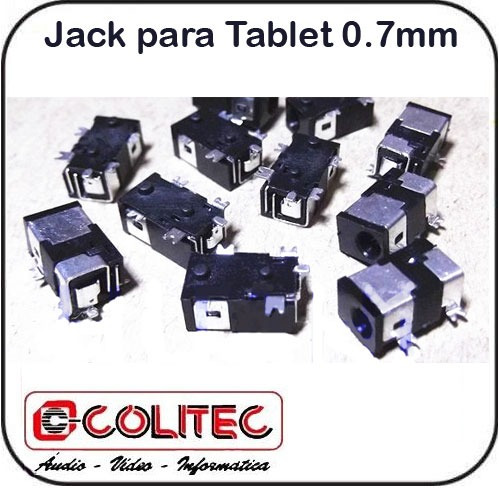 Jack Para Tablet´s 0,7 Mm Uso Em Tablets Netbook Etc ...