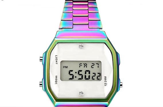 Reloj Tipo Casio Tornasol. Vs Agua. Alarma. Luz. Cronometro