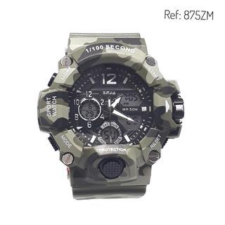 Reloj Hombre Marca Xinjia Camuflado 875zm Sumergible 50mt