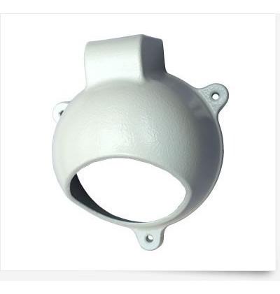 Kit Com 2protetor P/ Camera Dome C/ Porta Conector Acoplado