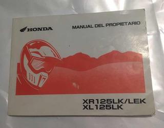 Manual Honda Xr 125 Original