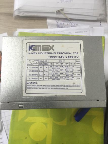 Fonte Atx 24pinos Sata K-mex 200w Model Px 300rng