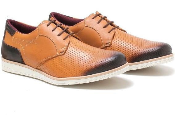 Sapato Social Casual Oxford Masculino Em Couro Frete Grátis