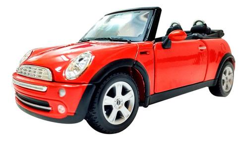 Auto Mini Cooper Cabrio Abre Puertas A Escala 1/24 Romemut