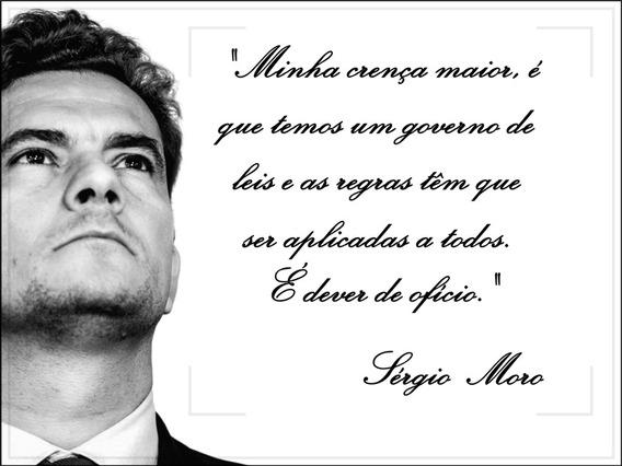 Sérgio Moro Cartaz De Parede 60x80 Decoração Justiça Direito