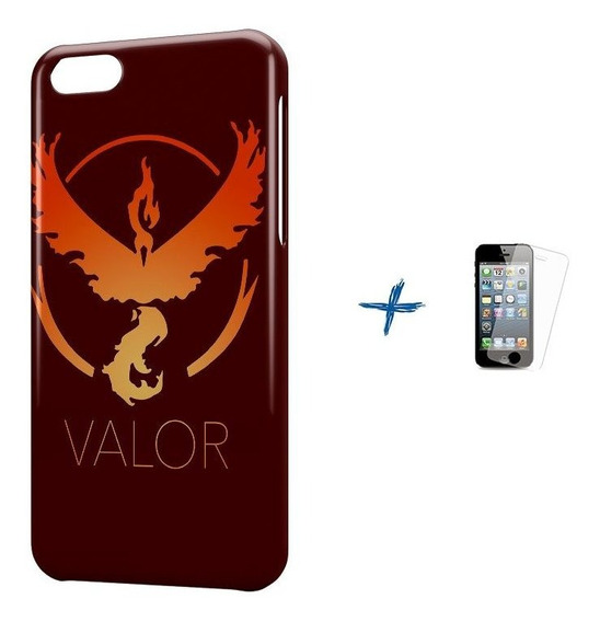 Kit Capa iPhone 5c Pokemon Valor Team +pel.vidro Bd1