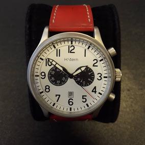 Relógio H Stern Pulseira Couro Vermelha