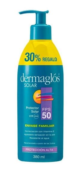 Protector Solar Dermaglos Fps50 Emulsión 380ml Familiar