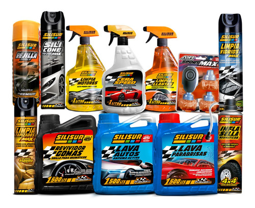 Silisur Superkit Lavado Max 12 Productos Limpieza Autos