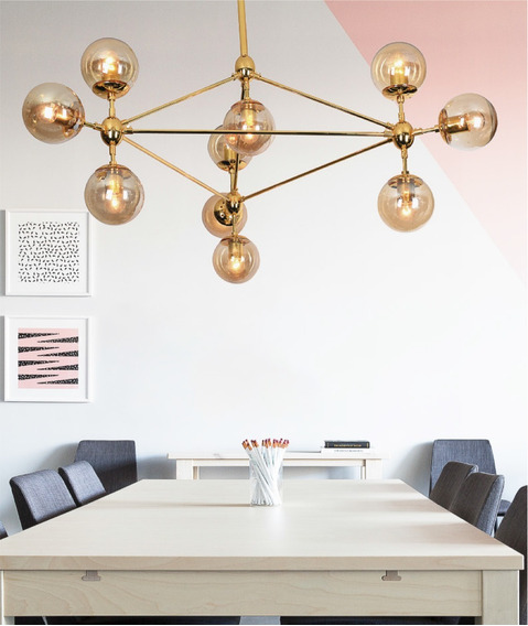 Pendente Gold Design Jason Miller Holl 10 Bolas Vidro E27
