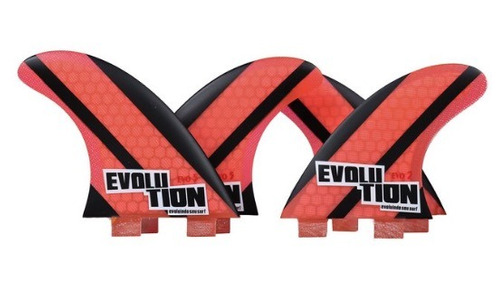Quadri Quilha  Evolution Fins Vermelha G5 - G2