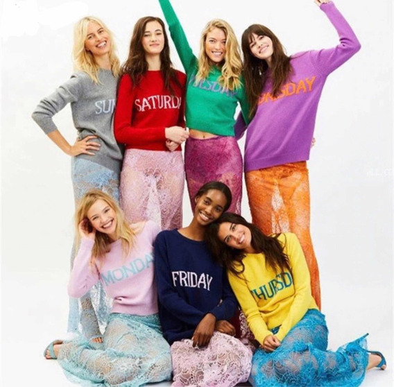 Suéter Días De La Semana Monday Sweater Chiara Fashion M/l