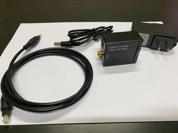 Conversor Audio Optico Digital E Coaxial P/ Rca +cabo Optico