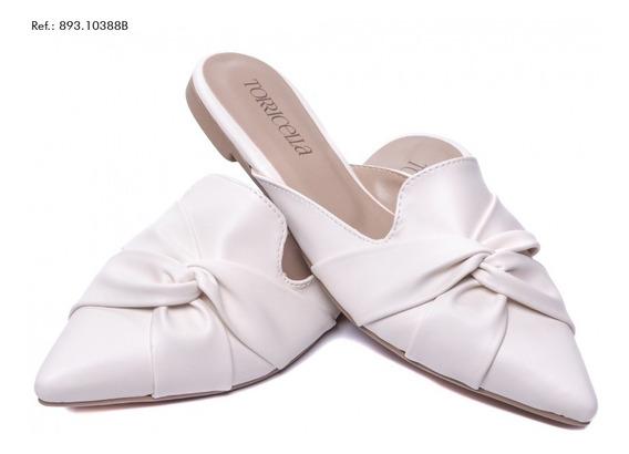Sapato Mule Feminino Branca - Promoção